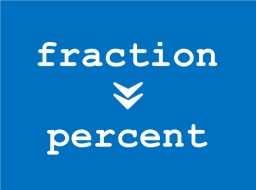 Fraction to Percent conversion calculator